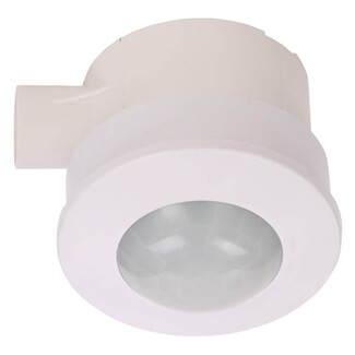 Zinc Thea White Conduit-Recessed And Surface Mounted PIR Motion Sensor
