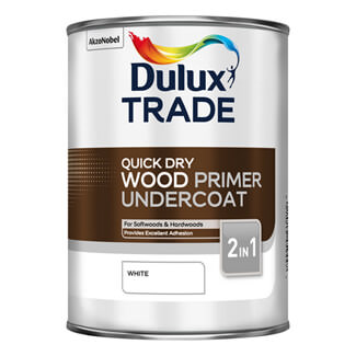 Dulux Trade Quick Dry Wood Primer Undercoat White