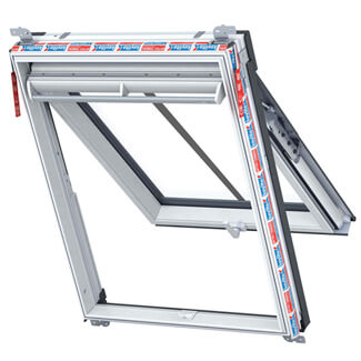 Keylite Manual Conservation Top Hung PFE Polar White PVC Roof Window