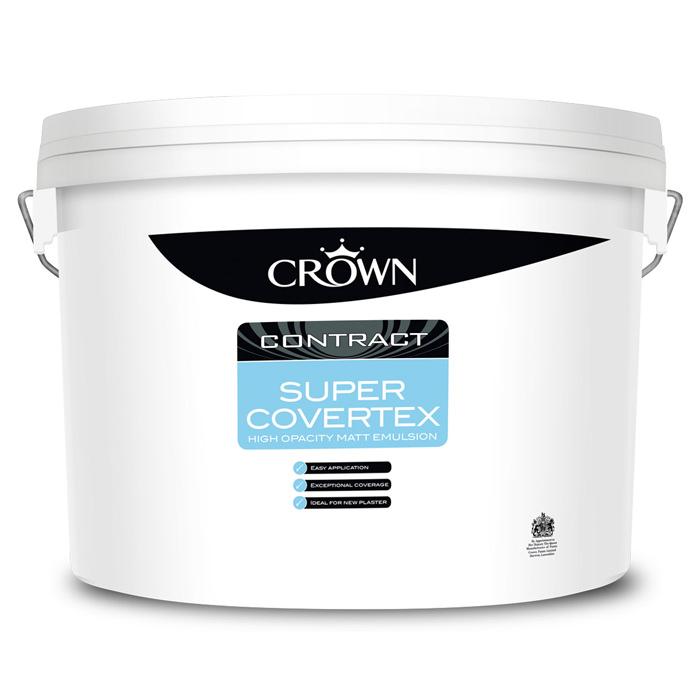 Crown Contract Super Covertex Matt Emulsion Paint 15L - Various Colours Available