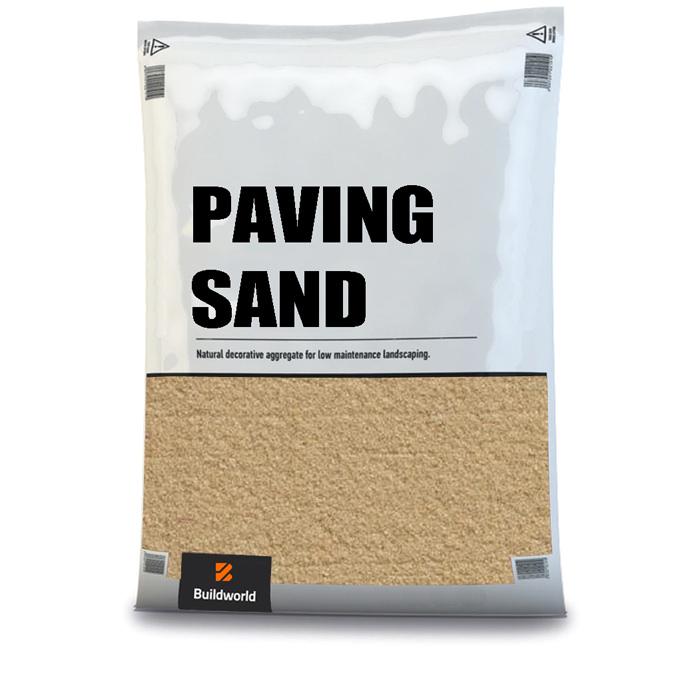 Buildworld Kiln Dried Paving Sand 25kg Bag