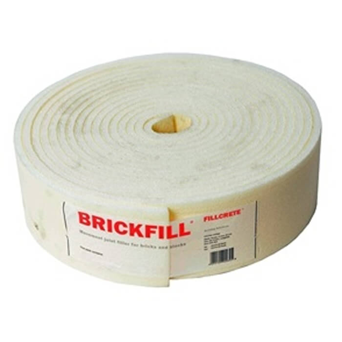 FillCrete Brickfill Expansion Joint Roll Width 100mm x Length 10mtr