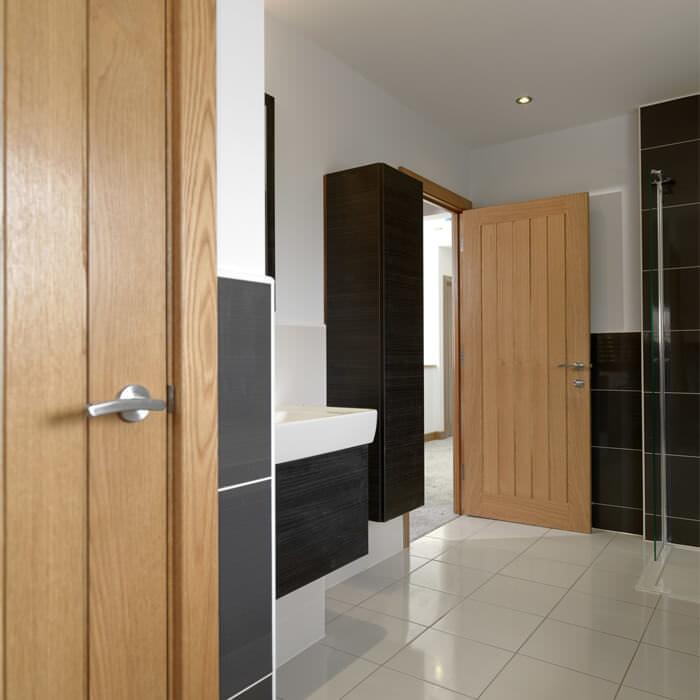 JB Kind Yoxall Cottage Style Internal Oak Veneer ...