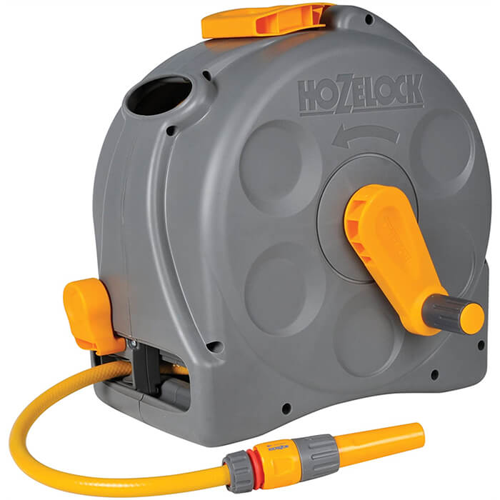 Hozelock 25m 2in1 Compact Hose Reel With 25m Of Starter Hose